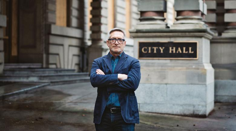 Dan Ryan in front of City Hall