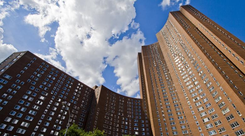 Confucius Plaza Apartments building exterior