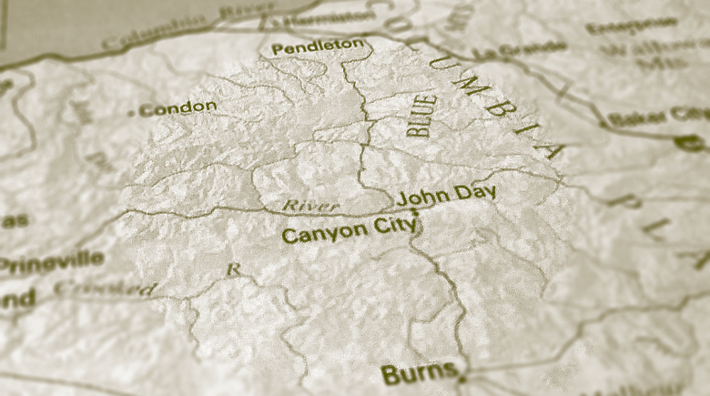 Map of Eastern Oregon