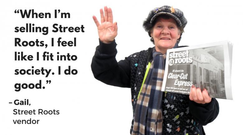 Street Roots vendor Gail