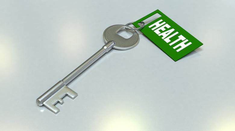 "Key labeled ""health"""