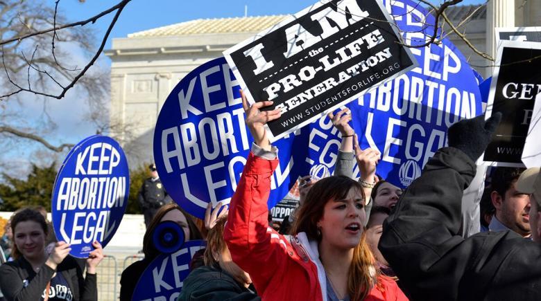 Pro-choice demonstrators