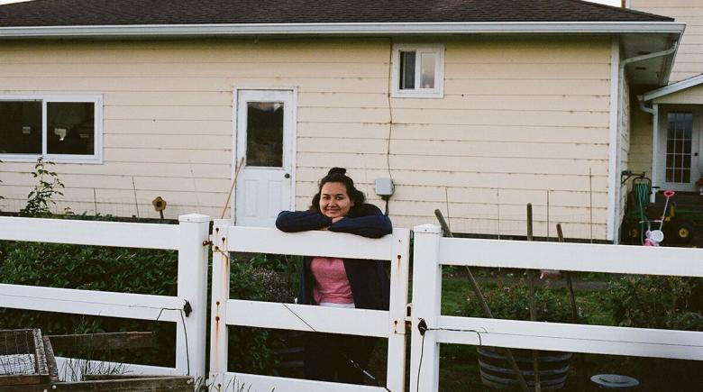 Lilliana Ortega on a dairy farm in Tillamook