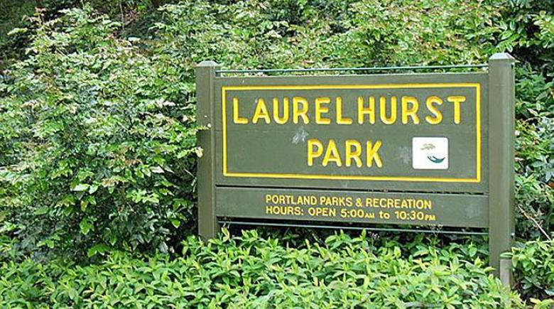 Laurelhurst Park sign