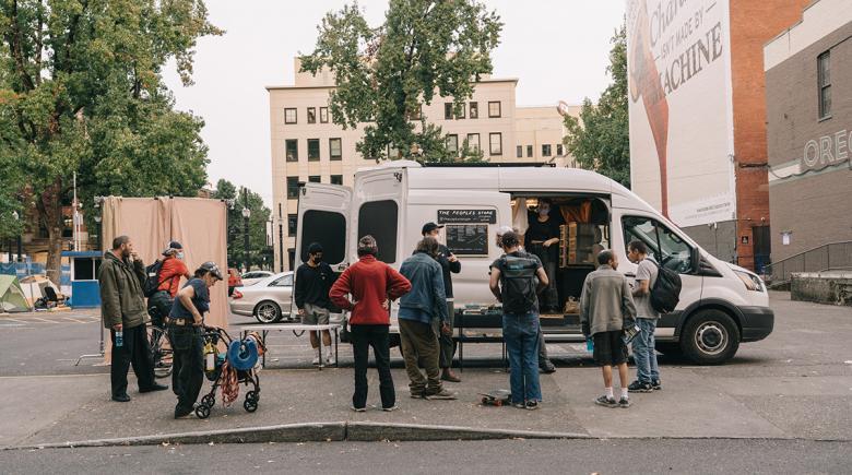The People's Store van