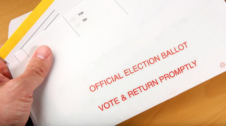 Vote-by-mail ballot