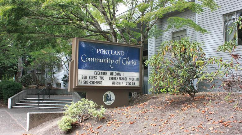 Photo of Portland Community of Christ church that will serve as a rotating shelter location for Family Promise Metro East.