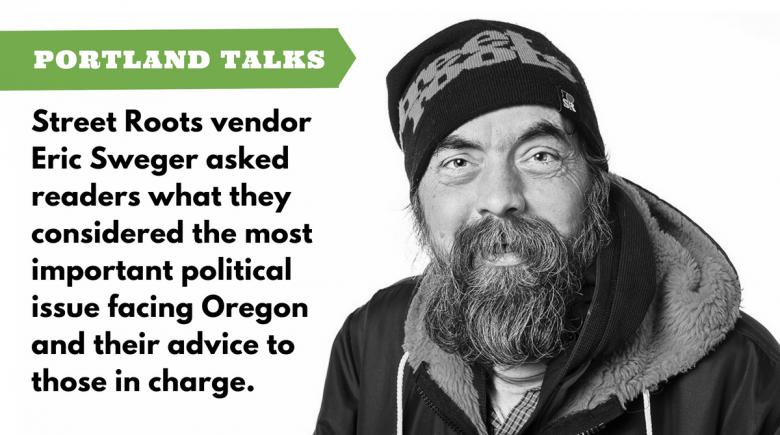 Street Roots vendor Eric Sweger