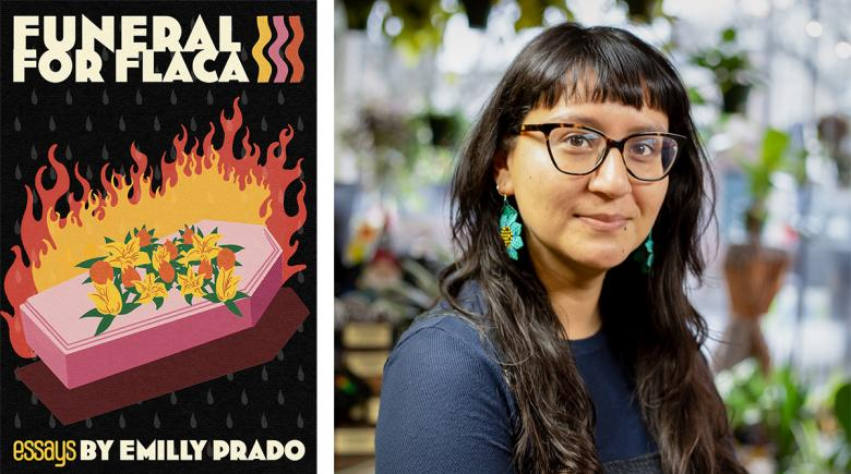 """""""Funeral for Flaca"""" cover on the left; Emilly Prado photo on the right"""