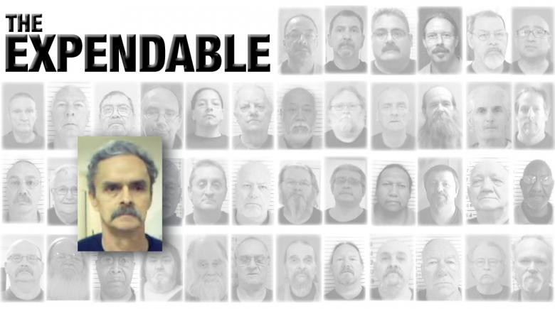 Portraits of 42 Oregon prisoners who died of COVID-19. The portrait of James Hargrave is emphasized. The headline reads: The Expendable.