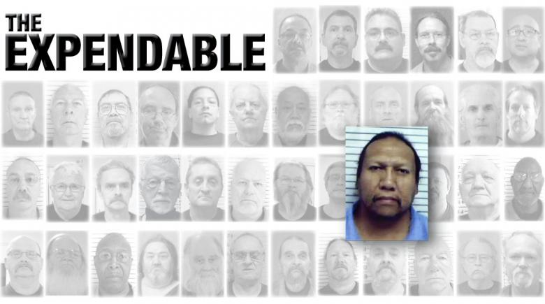Portraits of 42 Oregon prisoners who died of COVID-19. The portrait of Phyll Mendacino is emphasized. The headline reads: The Expendable.