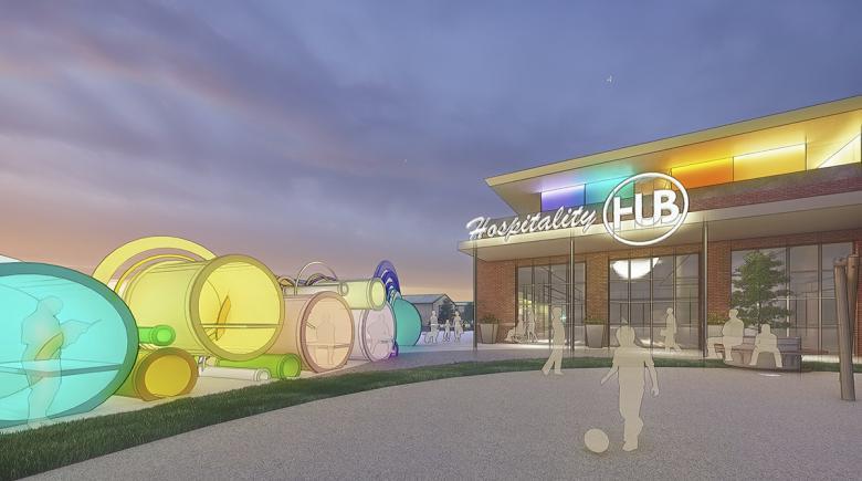 Hospitality Hub artist's rendering