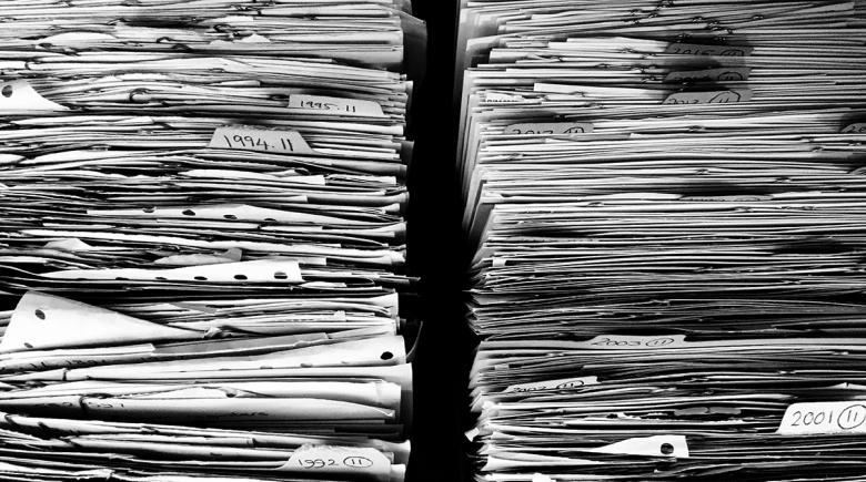 Stacks of files