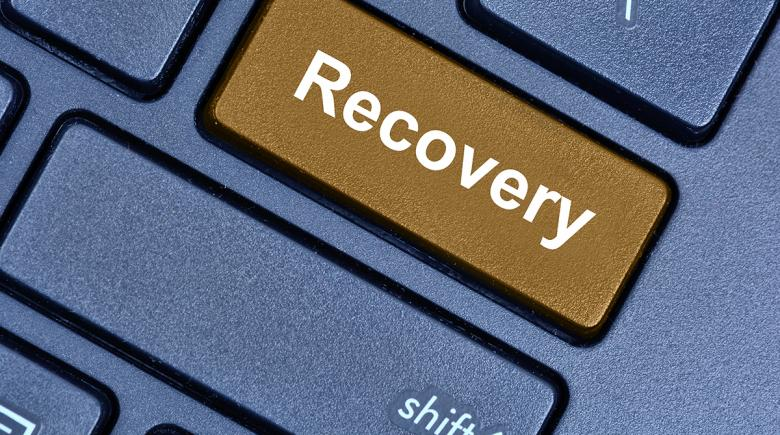 """The word """"recovery"""" on a computer key"""