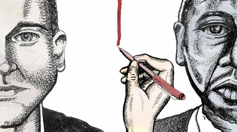 Illustration depicting redlining