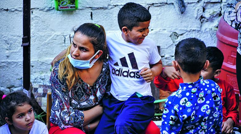 Photo of Roma children.