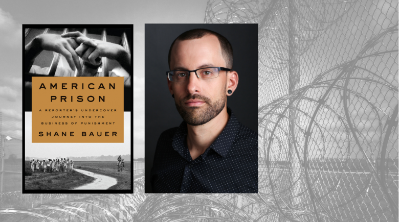Shane Bauer portrait and book cover