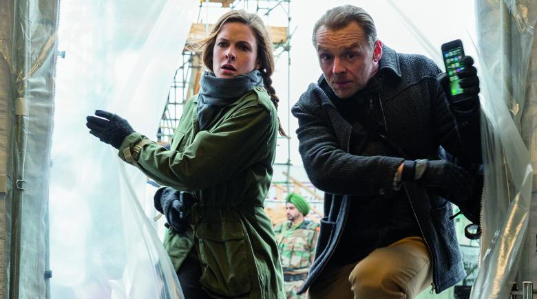 Simon Pegg and Rebecca Ferguson