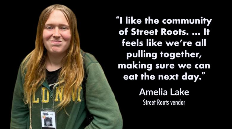 Street Roots vendor Amelia