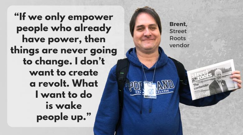 Street Roots vendor Brent