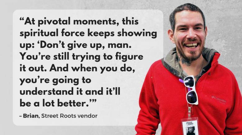 Street Roots vendor Brian