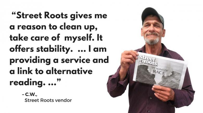 Street Roots vendor C.W.