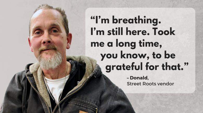Street Roots vendor Donald