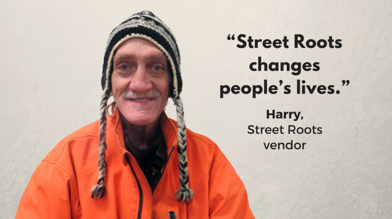 Street Roots vendor Harry