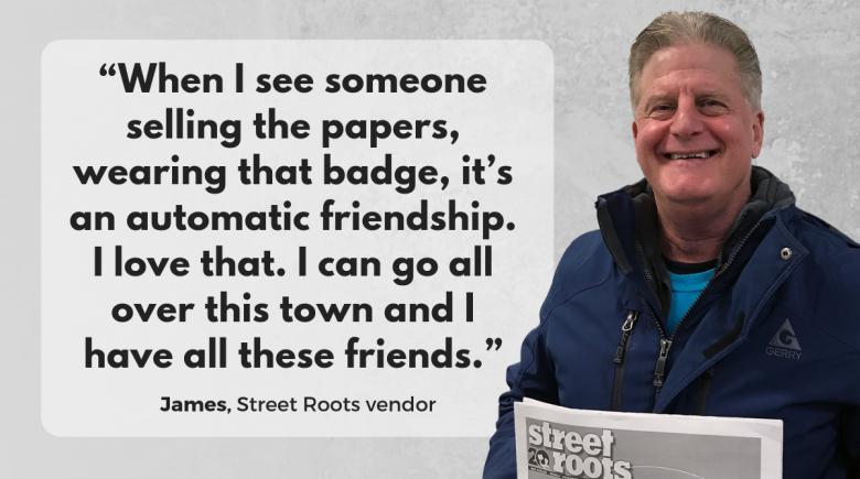 Street Roots vendor James