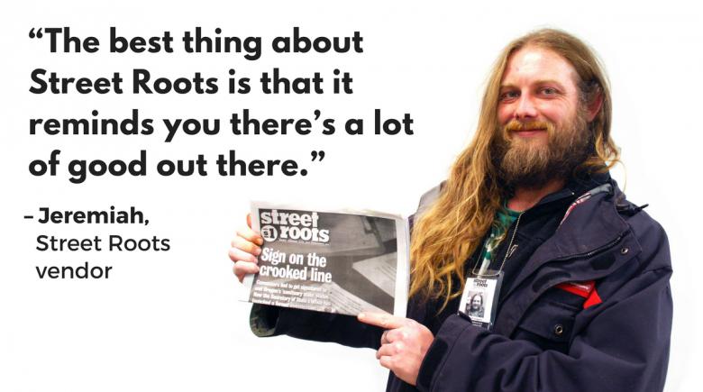 Street Roots vendor Jeremiah