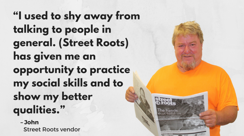 Street Roots vendor John