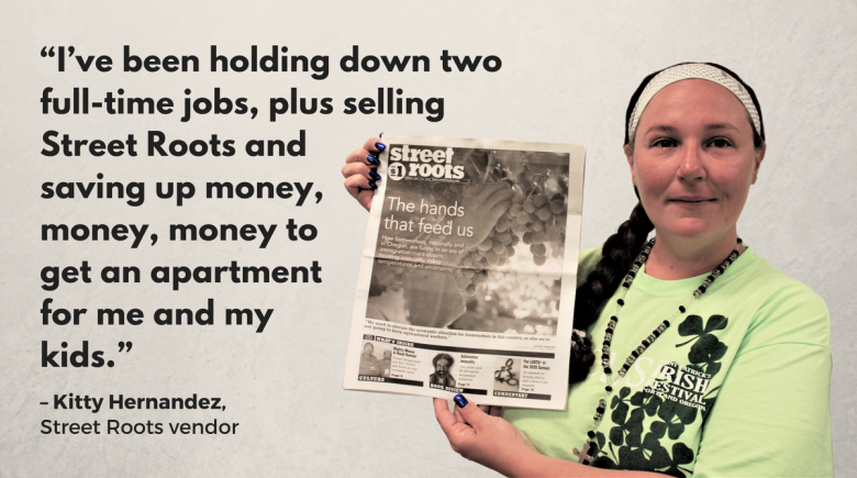 Street Roots vendor Kitty Hernandez