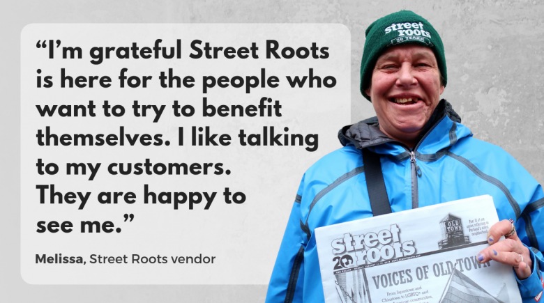 Street Roots vendor Melissa