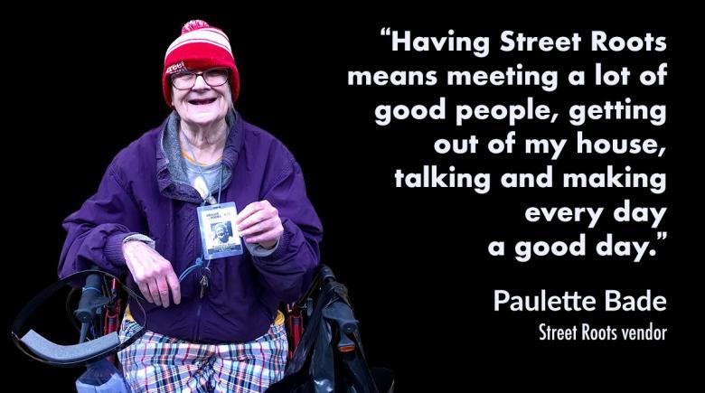 Street Roots vendor Paulette