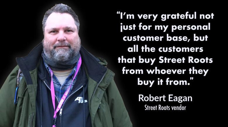Street Roots vendor Robert