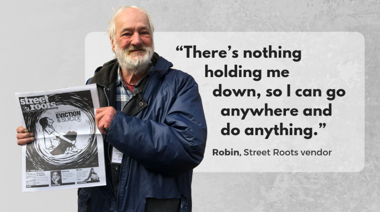 Street Roots vendor Robin