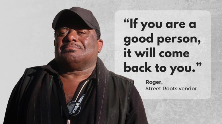 Street Roots vendor Roger