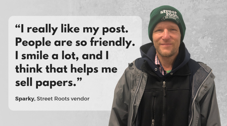 Street Roots vendor Sparky