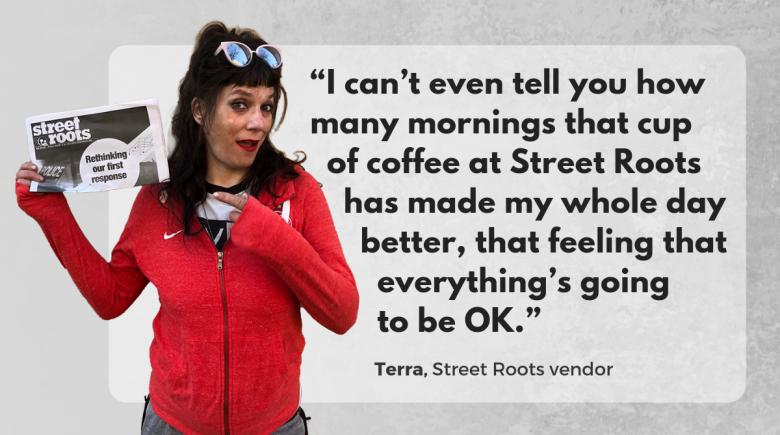 Street Roots vendor Terra