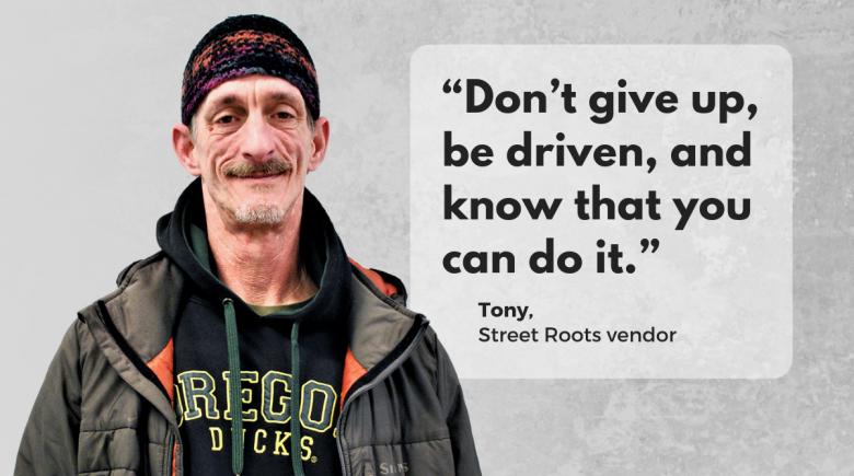 Street Roots vendor Tony