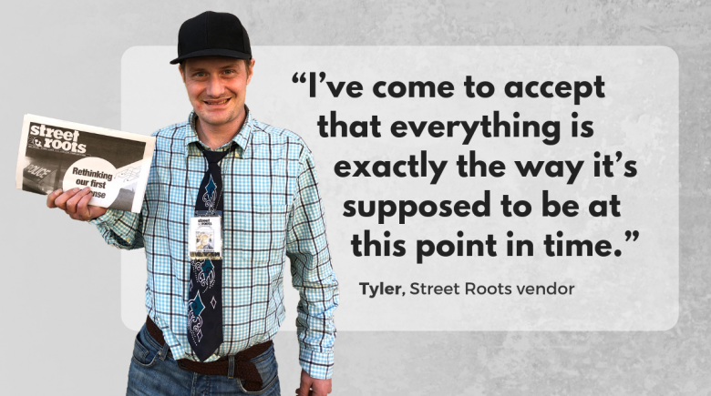 Street Roots vendor Tyler