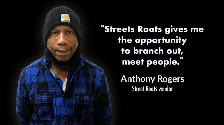 Street Roots vendor Anthony