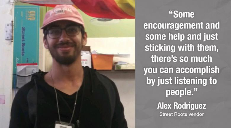 Street Roots vendor Alex