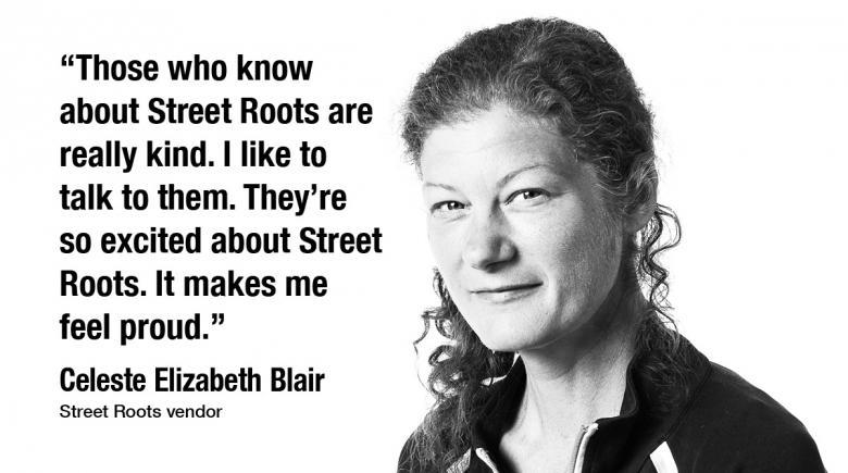 Street Roots vendor Celeste