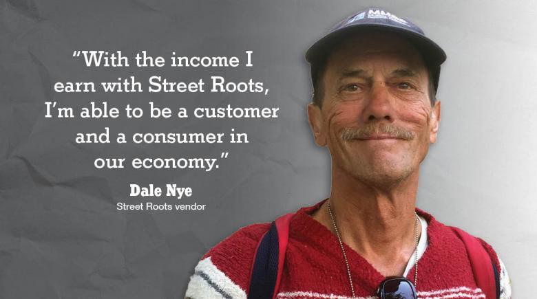 Street Roots vendor Dale