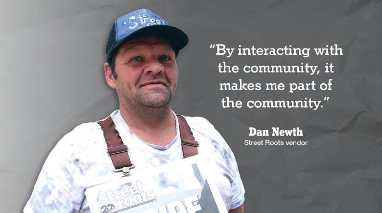 Street Roots vendor Dan