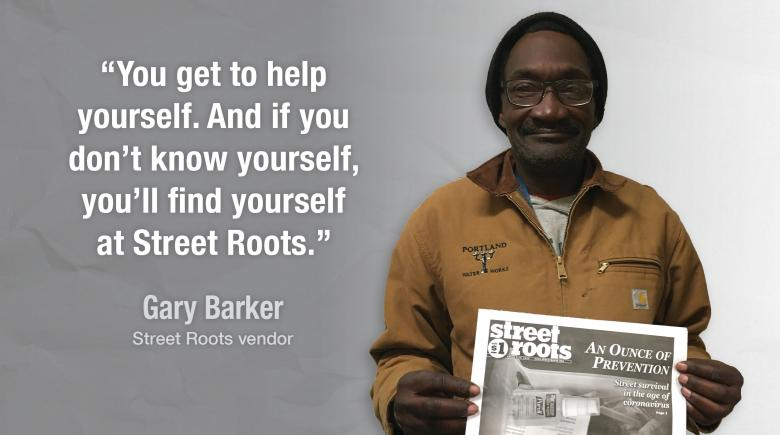 Street Roots vendor Gary