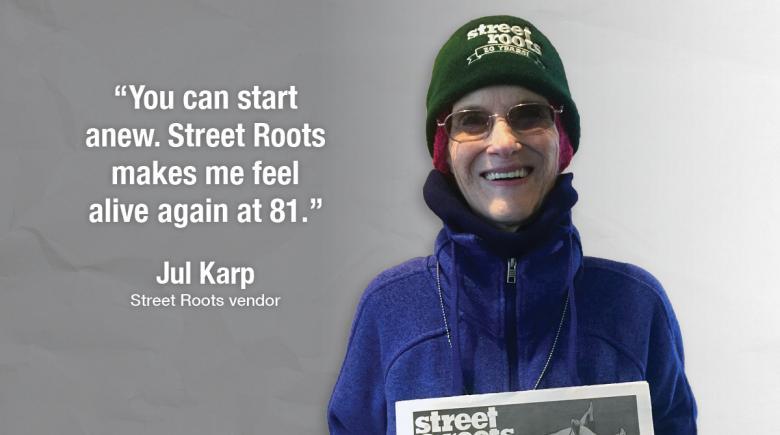 Street Roots vendor Jul
