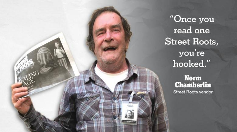 Street Roots vendor Norm