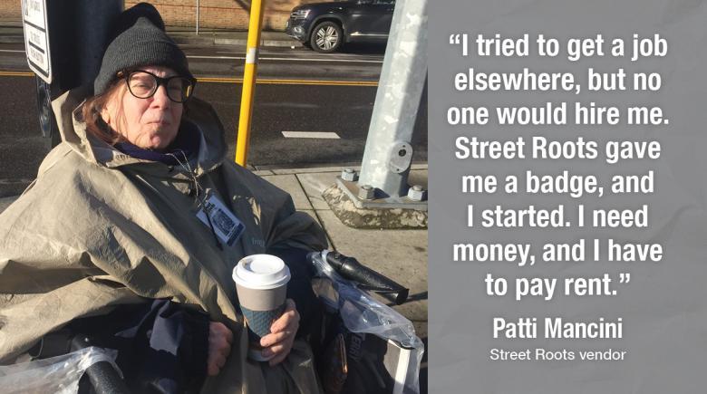 Street Roots vendor Patti
